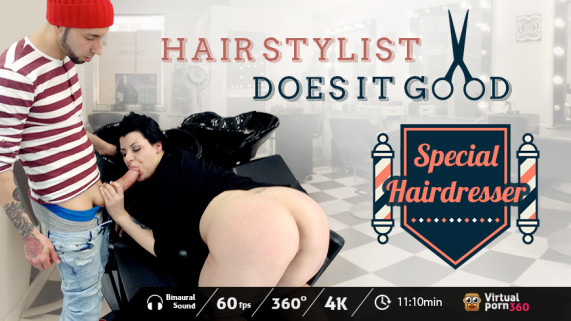 Hair stylist does it good VR Porn
