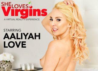 """Aaliyah Love in """"She Loves Virgins"""""""