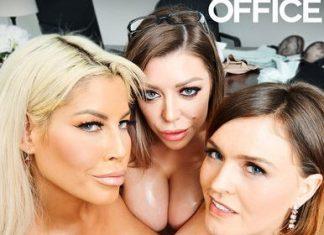 """Bridgette B., Karma Rx, Krissy Lynn in """"The Big Tits Office"""""""