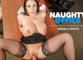 """Angela White in """"Naughty Office"""""""